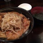 アシェットおひるごはん - 豚丼並盛&温玉(別皿)
