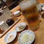 天ぷらめし 金子半之助  - ビールとあて