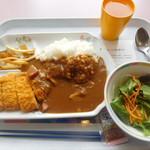 スカイラウンジ暁 - カツカレー野菜サラダセット¥550-