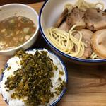 麺や天四郎 - 高菜ライス☆★★☆登場!