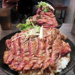 レッドロック - 大ステーキ丼1,250円。