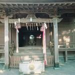 里見茶屋 - 長い階段を登っての洲崎神社