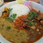 KOTTA - 料理写真:豆カレーとチキンカレーのスリランカカレー