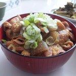 信州お袋の味 「ふもと食堂」 - もつ煮丼@800