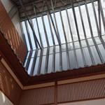 川端ぜんざい広場 - (2017/1月)天井がスケルトンだから日差しがすごい