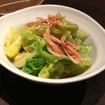 菜々 土古里 - [3月おすすめ]春キャベツのお浸し ¥480 2017/03/15(水)訪問