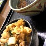 おく実庵 - 掻揚げ丼とかけ蕎麦