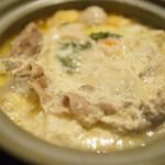 炭火居酒屋 炎 - イベリコ豆乳鍋