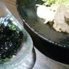 和食処 えん - 料理写真:烏賊黒づくり(左)とすり身揚げ(右)