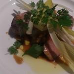 64006377 - 岩手県産ハーブ豚のロティ 雪うるいのサラダ 蛤のソース