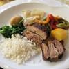 A Taberna - 料理写真:仔羊のオーブン焼きと付け合わせ