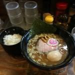 麺屋いちびり - 味玉らーめん ご飯