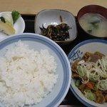 さつき - 料理写真:『モツ煮込み定食』750円