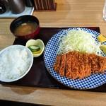 とんかつ 鉄 - 上ロースかつ定食(1500円)2017年3月