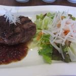 備長グリル もん - 自家製ハンバーグステーキ もんスタイル(和風ソース)¥972