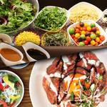 焼肉ダイニング GYUBEI - 【野菜ビュッフェ&食べ放題】サラダバー&ライス食べ放題付ランチメニュー全12種類