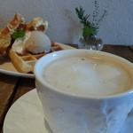 カフェ シュクラン - waffle&tea セット