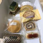 ゴトウ洋菓子店 - 宇治、生ロール、午後の天使、カスタードワッフル小倉生クリーム、スイスの田舎家、午後のショコラ、午後のチーズ