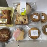 ゴトウ洋菓子店 - ハッピーベア、アラジェンヌ、しまなみ檸檬ケーキ、桜とクランベリー、マカダミアナッツのクッキー、ヘーゼルナッツクッキー、チョコチップクッキー、紅茶クッキー
