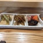 たか鮨 - おかず3種