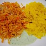 大阪ハラールレストラン - 金曜日スペシャルランチビュッフェ(CHICKEN BIRIYANI、SWEET ZARDA)