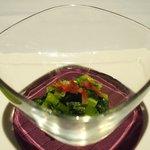 ゴーシェ - ランチコース 3240円 の小松菜のポタージュ