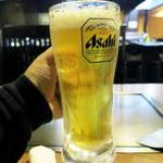 鉄板焼・お好み焼 加屋 - 生ビール 480円