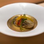 すし縁 - 牡蠣のオイル付け