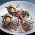 日本料理 桜ばし - さざえの壺焼き