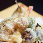 日本料理 桜ばし - 天ぷら盛り合わせ