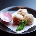 日本料理 桜ばし - 越のルビートマトの天ぷら