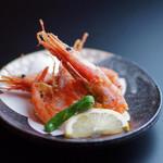 日本料理 桜ばし - 甘エビの唐揚げ