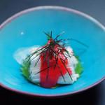 日本料理 桜ばし - 細切り山芋の梅肉和え