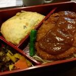 ニシモト - ビフカツ、オムレツ弁当1800円