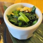 茶房松緒 - 小松菜の煮びたし