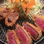 串亭 - 牛かつとフォアグラメンチカツ