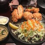 串亭 - サーモンチーズ挟み揚げ御膳@1,000円