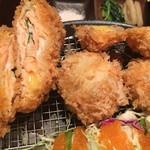 串亭 - サーモンチーズ挟み揚げ