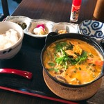 いちりん - ランチ海鮮うにの鍋焼きうどん定食1500円