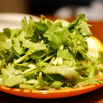 ザエイジングハウス - パクチーと水菜のサラダ