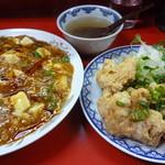 64057751 - 麻婆丼&唐揚げ