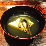 紀風 - たまご豆腐 はまぐり コシアブラ 蕨