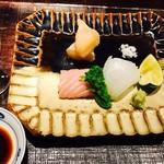 Kifuu - マグロ 貝柱 イカ  あしらい 菜の花添え