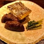 紀風 - 太刀魚 しいたけ わさび菜のおひたし