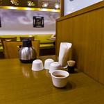 翡翠園 - テーブルの上