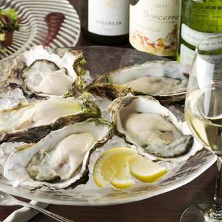 【食べ放題あり!】常時10種類以上取り揃えた『生牡蠣』
