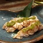 居酒屋 ヒミツキチ - 炙り鶏わさ