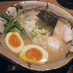 真鯛らーめん まるき - 【真鯛らーめん 味玉塩】¥980