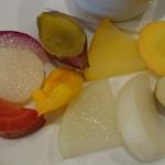 イル・チェント平野町 - 皮付き野菜は素材そのまま、自然な美味しさ