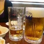 レストランカミヤ - 「生ビール大」1,050円